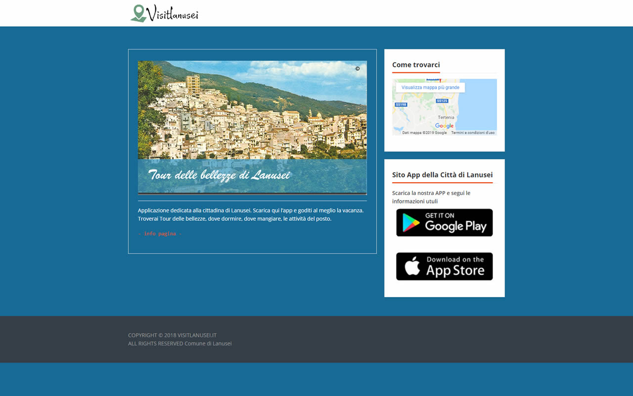 APP VisitLanusei.it App turista Città di Lanusei
